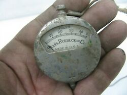 Antique Sears And Roebuck Volt Meter Harley Davidson Indian Jd Vl Knucklehead Four