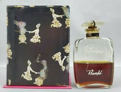 Rare Vintage 1940's Intrigue By Bombi 2 Oz Perfume Parfum Bottle In Box 50 Full