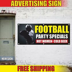 Football Party Specials Banner Advertising Vinyl Sign Flag Hot Women Cold Beer