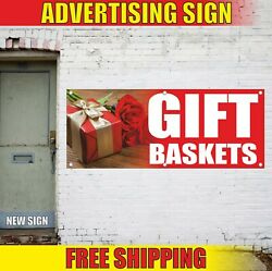 Gift Baskets Banner Advertising Vinyl Sign Flag Event Shop Flower Cards Wrapping