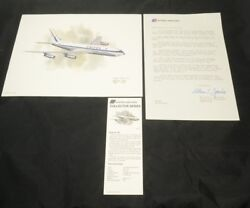 Nixon Galloway Print United Airlines Collector Series Boeing 720