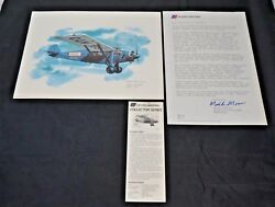 Nixon Galloway Print United Airlines Collector Series Travel Air 5000