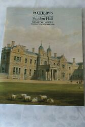 Sothebys Catalogue Sandon Hall Staffordshire Oct92 Antiques Country House