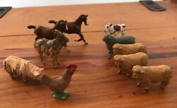 Rare Vintage Lead Farm Animals Timpo Britains And Various Lead Soldiers