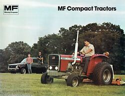 Massey Ferguson Mf 205 210 220 2wd And 4wd Compact Tractor Color Sales Brochure