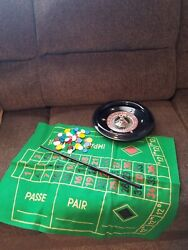 Vintage Small/mini 8 Bakelite Roulette Game. Made In Italy