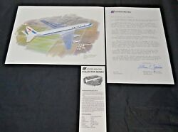 Nixon Galloway Print United Airlines Collector Series Douglas Dc-8