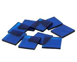 500 Aqua Blue Cathedral Rough Rolled 1/2 Squares | Fusible 96 Glass Mosaic Tile