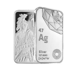 10 oz .999 AG Fine Silver Bar BU Freedom Symbol Stamped Sealed IN STOCK $344.77