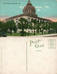 JACKSONVILLE FL CITY HALL ANTIQUE POSTCARD