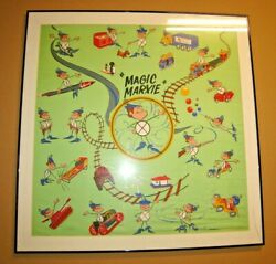 1960and039s Marx Toys Magic Marxie Employee Only Promotional Silk Scarf Only 1 Known