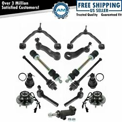 Front Control Arm Ball Joint Sway Bar Tie Rod Hub Steering Suspension Kit 15pc