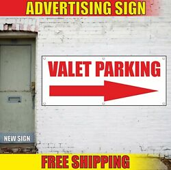 VALET PARKING Banner Advertising Vinyl Sign Flag only employee area arrow right
