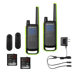 Motorola Talkabout T801 Two-way Radio Set Of 2 With Carrying Case - Brand New