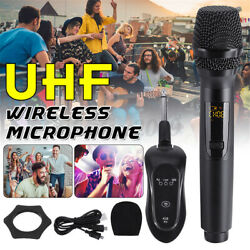 K18 Wireless Uhf Microphone Karaoke With Receiver System Handheld Recharge
