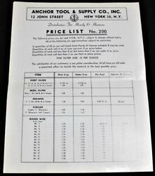 Anchor Tool And Supply Co. Jewelry Making Equipment Price List No.22 1950s
