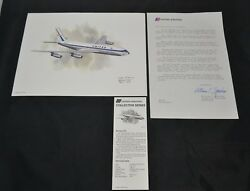 Nixon Galloway Print United Airlines Collector Series Fairchild C-82