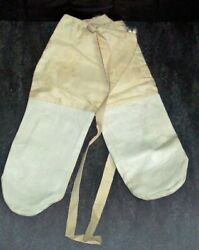 New Old Stock Wwii White British Canadian Over-mittens 1942 Fssf