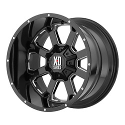 Xd By Kmc Wheel Buck 25 Gloss Black Milled 20x10 Ford F250 Rim 8x170 -24 Each