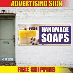 Handmade Soaps Banner Advertising Vinyl Sign Flag Gifts Shop Wrapping Cards Here