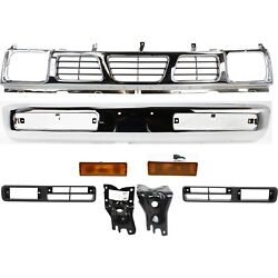 Bumper Kit For 96-97 Nissan Pickup Front 8pc