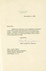Lady Bird Johnson - Typed Letter Signed 11/03/1966