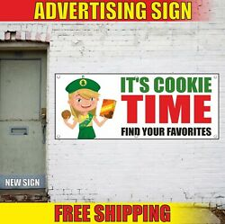 Itand039s Cookie Time Banner Advertising Vinyl Sign Flag Scout Find Your Favorites