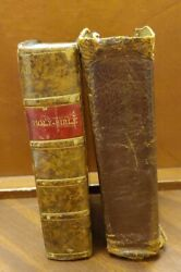 P11 Antique Leather Bound Old And New Testament Bible 1766 Edinburgh Kincaid