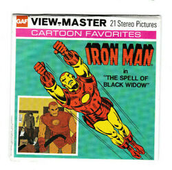 Viewmaster Iron Man In The Spell Of Black Widow Red Tint Gaf