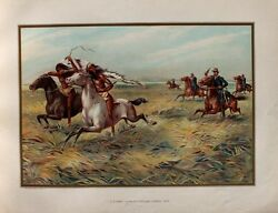Usa Cavalry Natives Indian Sioux Chief Dakota Rifle Middle West