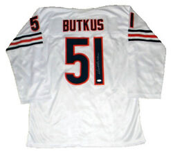 Dick Butkus Signed Autographed Chicago Bears 51 White Throwback Jersey Jsa