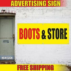 Boots And Store Banner Advertising Vinyl Sign Flag Shop Shoe Sale Open Repair Best