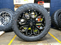 20x9 Fuel Assault Black Wheels 32 At Tires Package 6x5.5 Toyota Tacoma 4runner
