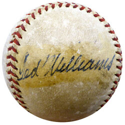 Ted Williams Autographed Baseball Red Sox Vintage 1940's Sig Beckett Coa A74702