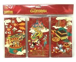 New Pack / 6 Disney Parks 2020 Lunar Chinese New Year Red Lucky Envelopes Mickey