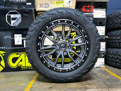 20x9 Fuel D680 Rebel Gray Wheels Rims 32 At Tires Package 5x150 Toyota Sequoia