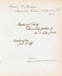 Stephen J. Field - Signatures 01/15/1879 With Co-signers