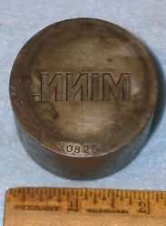 Antique Wwi Minn Minnesota National Guard Collar Pin Stamping Die Us Army