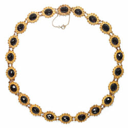 Canetille And Grenade Dutch Vintage Collier In 585 Gold After 1955
