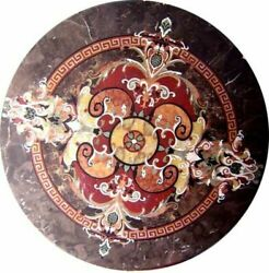 42 Marble Coffee Table Top Pietra Dura Marquetry Handmade Work Home Decor