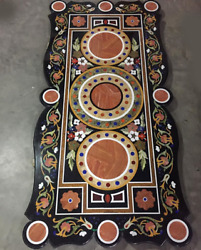 54 X 32 Marble Coffee Table Top Pietra Dura Inlay Handcrafted Work