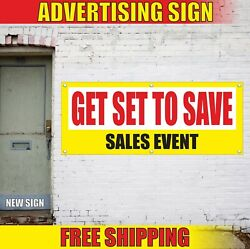 Sales Event Banner Advertising Vinyl Sign Flag Specials Discount Get Set To Save