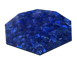 36 Marble Table Top Lapis Lazuli Marquetry Inlay Handmade Home Decor