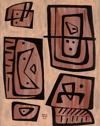 New Price 1983 Carlos Merida Abstract Composition Framed