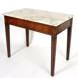 New Price18th C English Mixing Table With Marble Top, Antique Kitchen