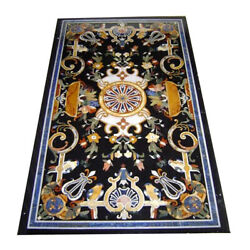 48 X 24 Marble Table Top Pietra Dura Inlay Room Furniture Decor