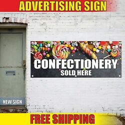 Confectionery Banner Advertising Vinyl Sign Flag Pastry Candy Sweets Sold Here