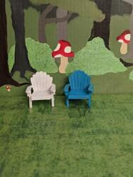 Miniature Adirondack Chair Beach for Fairy or Gnome Garden Choice of Color NEW $4.95