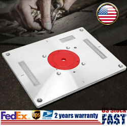 Multi-function Router Table Inserting Plate Board Kit W/ Ring For Woodworking