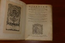 ART OF GARDENING & AGRICULTURE - ITALIAN IMPRINT - MANY ILLUSTRATIONS - 1593